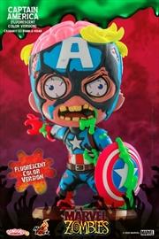 Marvel Zombies - Captain America Fluorescent Cosbaby | Merchandise