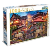 Sunset Over Canal 1000 Piece Puzzle | Merchandise