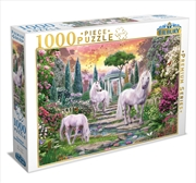 Classical Garden Unicorns 1000 Piece Puzzle | Merchandise