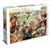 Kittens Bird Watching 1000 Piece Puzzle | Merchandise