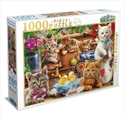 Kittens In Potting Shed 1000 Piece Puzzle | Merchandise