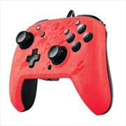 PDP Switch Faceoff Deluxe + Audio Wired Controller Red Camo | Nintendo Switch