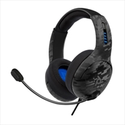 PDP PS5 LVL 50 Wired Headset Black Camo | Playstation 5