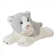 Cat: Griffin Grey Lying 25cm Plush | Toy
