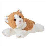 Cat: Leo Ginger Lying 25cm Plush | Toy