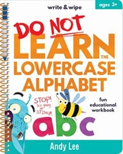 Write & Wipe - Do Not Learn Lowercase Alphabet | Spiral Bound