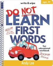 Write & Wipe - Do Not Learn First Words | Spiral Bound