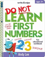 Write & Wipe - Do Not Learn First Numbers | Spiral Bound