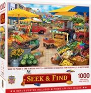 Masterpieces Puzzle Seek & Find Market Square Puzzle 1000 Pieces   Merchandise
