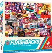 Masterpieces Puzzle Flashbacks Quick Stop Diner Puzzle 1000 Pieces   Merchandise