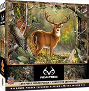 Masterpieces Puzzle Realtree Backcountry Buck Puzzle 1000 Pieces   Merchandise