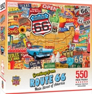 Masterpieces Puzzle Greetings from Route 66 Puzzle 550 Pieces   Merchandise
