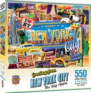 Masterpieces Puzzle Greetings from New York Puzzle 550 pieces | Merchandise