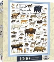 Masterpieces Puzzle Poster Art Land Mammals of North America Puzzle 1000 Pieces   Merchandise