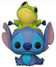 Lilo & Stitch - Stitch with Frog US Exclusive Pop! Vinyl [RS] | Pop Vinyl
