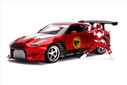 Power Rangers - '09 Nissan GT-R Red 1:24 Scale Hollywood Ride | Merchandise