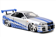 Fast and Furious - '02 Nissan Skyline GT-R 1:24 Scale Hollywood Ride | Merchandise