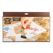 Scratch Me Away Magnetic Travel Map | Merchandise