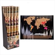 Scratch Me Away World Travel Map | Merchandise