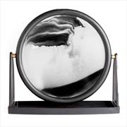 Round Black Sand Art   Homewares