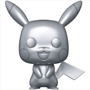 Pokemon - Pikachu Silver Metallic 25th Anniversary Pop! Vinyl [RS] | Pop Vinyl