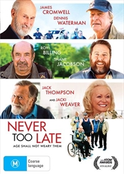 Never Too Late | DVD