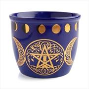 Wild Scents Pentacle Ceramic Smudge Bowl | Homewares