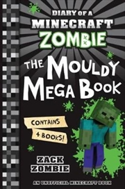 Diary Of A Minecraft Zombie Bindup #1-#4: The Mouldy Mega Book (paperback)   Paperback Book