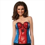 Spidergirl Sequined Corset: L | Apparel