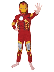 Iron Man Deluxe: Size 3-5 | Apparel