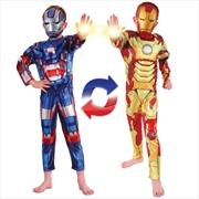 Iron Man/Patriot Reversable: 4-6   Apparel