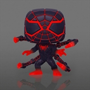Marvel's SpiderMan: Miles Morales - Programmable Matter Suit Glow US Exclusive Pop! Vinyl [RS] | Pop Vinyl
