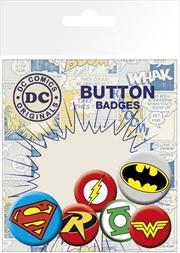 DC Comics Iconic Logos Badge 6 Pack   Merchandise