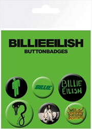 Billie Eilish Badge 6 Pack | Merchandise