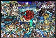 Tenyo Puzzle Disney the Little Mermaid Story Stained Glass Puzzle 1,000 pieces | Merchandise