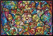 Tenyo Puzzle Disney All Star Stained Glass Puzzle 1,000 pieces | Merchandise