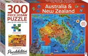 Puzzlebilities 300 Piece Jigsaw: Australia and New Zealand Map | Merchandise