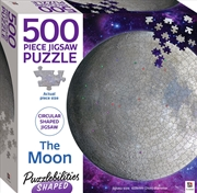 Puzzlebilities Shaped 500 Piece Jigsaw: The Moon | Merchandise