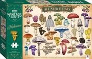 Vintage 1000 Piece Puzzle - Mushrooms | Merchandise