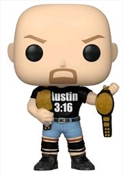 WWE - Stone Cold Steve Austin 3:16 shirt with 2 Belts US Exclusive Pop! Vinyl [RS] | Pop Vinyl