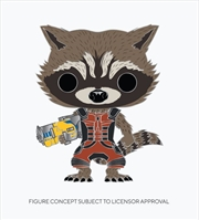 "GotG2 - Rocket Raccoon 4"" Pop! Enamel Pin | Merchandise"