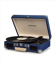 CROSLEY Cruiser Deluxe Portable Turntable - Blue | Merchandise