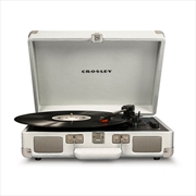 CROSLEY Cruiser Deluxe Portable Turntable - White Sand | Merchandise