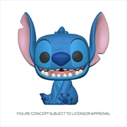 Lilo and Stitch - Stitch Seated Flocked US Exclusive Pop! Vinyl [RS] | Pop Vinyl