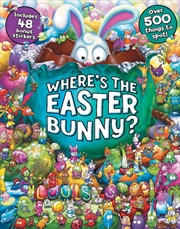 Where's the Easter Bunny with Stickers | Hardback Book