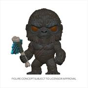 Godzilla vs Kong - King Kong with Scepter Flocked US Exclusive Pop! Vinyl [RS] | Pop Vinyl