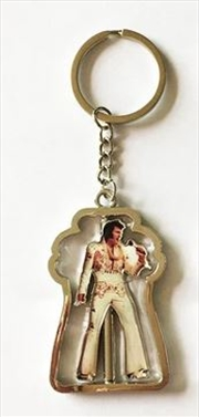 Elvis Spinner White Jumpsuit Keyring | Accessories