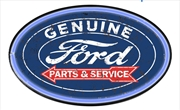 Man Cave Ford Genuine Parts Rope LED Oval Wall Sign Light | Accessories