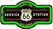 "Route 66 LED Neon Lighted Sign 17"" Marquee Shape 