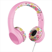LilGadgets Connect+ Style Children's Wired Headphones – Pink Doughnuts | Accessories